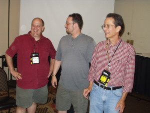 Mark Finn, Rick Klaw, and Doug Potter at Armadillocon 26