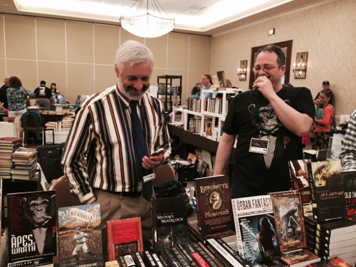 Tachyon publisher Jacob Weisman and I having a good time at Armadillocon 38 (photo: Brandy Whitten)
